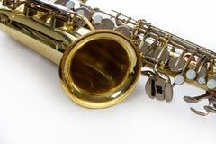 Saxophone close-up stock photo