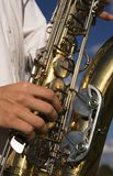 Saxophone close up Royalty Free Stock Photo