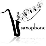 Saxophone. Concept illustration showing a saxophone with musical notes floating out of it stock illustration