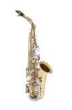 Saxophone d'or Photo libre de droits