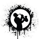 saxophone de joueur Photographie stock