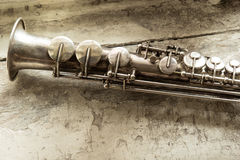 Saxophone de soprano Images libres de droits