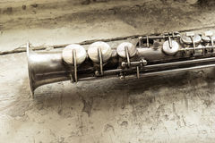 Saxophone de soprano Image stock