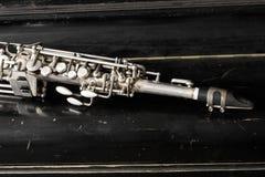 Saxophone de soprano Photographie stock libre de droits