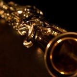 Saxophone de soprano de fragment Photographie stock