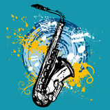 Saxophone design. Abstract saxophone background illustration vector stock illustration