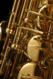 Saxophone detail Royalty Free Stock Photos