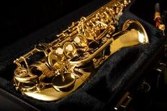 Saxophone detail Stock Images