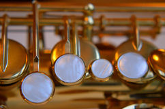 Saxophone detail Royalty Free Stock Images