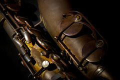 Saxophone (detail) Royalty Free Stock Photography