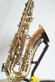 Saxophone details. Against white background royalty free stock images