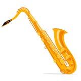 saxophone Etiqueta del vintage, ejemplo, logotipo Fotos de archivo libres de regalías