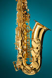 Saxophone - Golden alto saxophone classical instrument Stock Photography