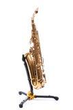 Saxophone - Golden alto saxophone Royalty Free Stock Image