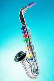 Saxophone isolated Royalty Free Stock Photos