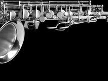 Saxophone isolated on black background. Studio high-resolution image Royalty Free Stock Image