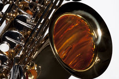 Saxophone Isolated on White Royalty Free Stock Photos