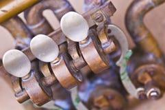 Saxophone keys Stock Image