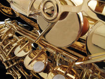 Saxophone keys Stock Images