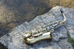 Saxophone Lake Royalty Free Stock Images