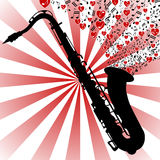 Saxophone-love music Royalty Free Stock Images