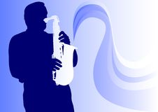 Saxophone man Royalty Free Stock Photo