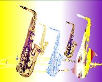 Saxophone migration 1 Royalty Free Stock Photos