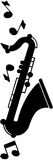 Saxophone Motif Royalty Free Stock Photo
