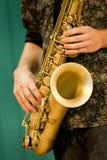 Saxophone music Stock Photo