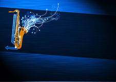 Saxophone music background Royalty Free Stock Photos