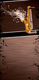 Saxophone music background Royalty Free Stock Photography