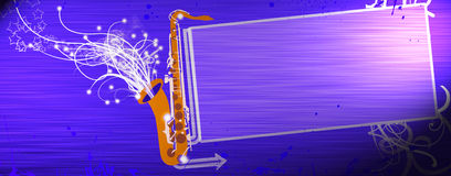 Saxophone music background Royalty Free Stock Photography