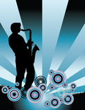 Saxophone Music Background Stock Photo