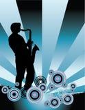 Saxophone Music Background Stock Photo