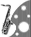 Saxophone. Musical background Royalty Free Stock Photography