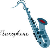 Saxophone musical instrument Royalty Free Stock Photos