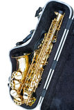 Saxophone in an open case Stock Photography