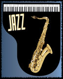 Saxophone Piano Background Stock Photo