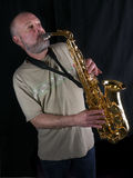 The saxophone player Stock Images