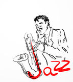 The saxophone player. Stock Images