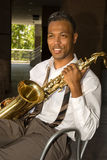 Saxophone player Stock Photography