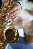 Saxophone player stock images