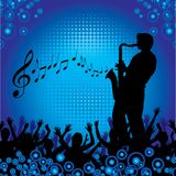 Saxophone player background Stock Image