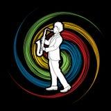 Saxophone player Stock Photos