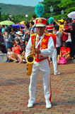 Saxophone player at disneyland Royalty Free Stock Images