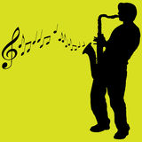 Saxophone player illustration Stock Image