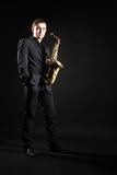 Saxophone player jazz man Royalty Free Stock Photos