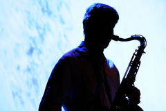 Saxophone player of Oreka TX Stock Photos