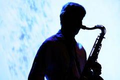 Saxophone player of Oreka TX Stock Photos