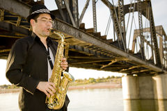Saxophone Player Stock Image
